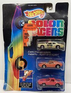 Vintage Hot Wheels Color Racers 3 PACK Police Ferrari Firebird 1987