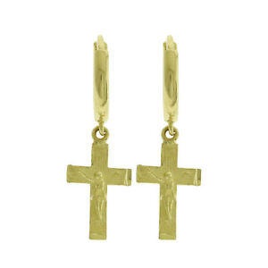 Earrings Any Color Solid 14K Gold Cross Heart Necklace Or Ring SALE