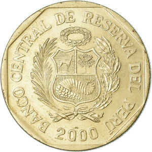 [#763090] Coin, Peru, Nuevo Sol, 2000, Lima, EF, Copper-Nickel-Zinc, KM:308.3
