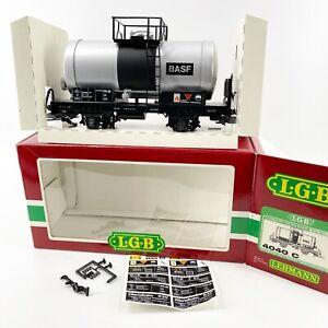 Vintage LGB 4040C BASF Two-axle G Scale Train Tank Car New in Original Box