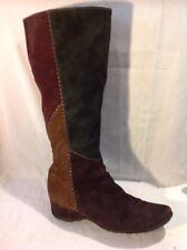 Ecco Multicolor Knee High Suede Boots Size 40
