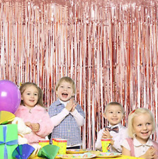 Rose Gold Foil Tinsel Fringe Door Curtain Birthday Wedding Party Decoration UK