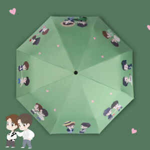 The Umtamed Xiao Zhan 肖战 Wang Yibo 王一博 BJYX Three-Folding Automatic Umbrellas