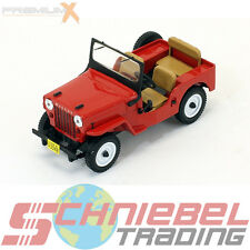 1953 JEEP WILLYS cj3b [PremiumX prd365] ROSSO, 1:43 DIE CAST