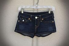 TRUE RELIGION JOSIE Size 25 Dark Blue Hot Mini Denim Short Shorts USA