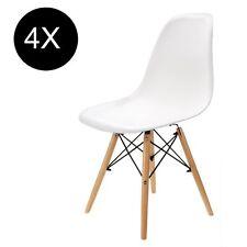 4 Stück Esszimmerstuhl Wohnzimmer Stuhl Kunststoff Büro Stühle Weiß Stuhl Set