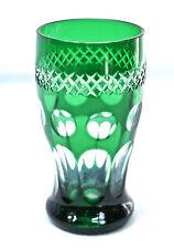 Bella vecchio Weinpoal in vetro, terra, verde Sovrapposizione, (H).13 cm