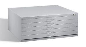 Flachablageschrank, Zeichenschrank, Planschrank, 5 Schubladen, Format DIN A1