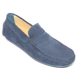 Mocassino car shoes uomo blu scuro comfort man casual made in italy vera pelle s