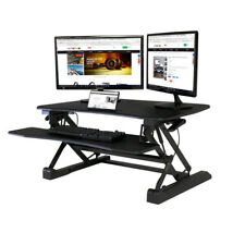 Boost STS-DR35ii Sit-To-Stand Desk Riser, Gas Spring Height Adjustment. Black