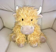 Lovely & Fluffy Official Jellycat Highland Cow Pillow / Cushion Beanie Soft Toy