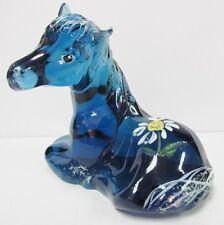 #5057DQ Foal / Horse Hand Painted Indigo Blue MINT-NEW, INSCRIBED SCOTT FENTON