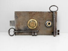 Ancienne Serrure de Porte , Révisée, avec 2 Clés, Antique Lock Door