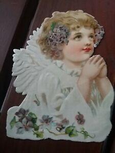 alte Oblate Glanzbild v,1880-  1900  Engel  9 x 11,5 cm 🍀🐞schön