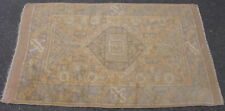 Semi-antique Turkish Oushak rug hand knotted wool pale orange 3.10x5.6 #5689