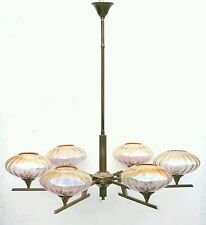 Amazing mid century italian modernist pendant ceiling lamp 6 arms chandelier