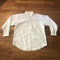 Brooks Brothers Men's Dress Shirt White Size 17.5 - 5 Made In USA