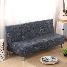 Print Folding Armless Sofa Futon Cover Seater Protector Couch Slipcovers Stretch