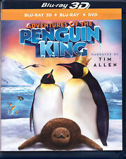 Adventures of the Penguin King (3D/2D Blu-ray Discs, 2014, 3-Disc Set) Animated