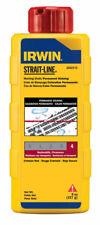 Irwin  Strait-Line  8 oz. Permanent  Marking Chalk  Crimson Red  1 pk