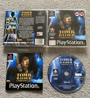 Tomb Raider Chronicle PS1 PS2 PS3 Playstation 1 Complete UK PAL Black Label
