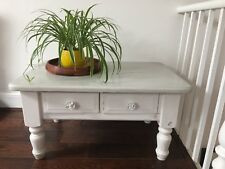 Beautiful white and grey shabby chic cofee table