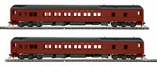 HO MTH Pennsylvania 2 Car Heavyweight Passenger Set for 2 Rail Track 80-40003