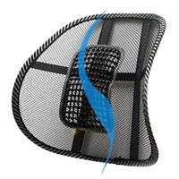 Massage Mesh Fabric Lumbar Back Brace Support Office Home Car Seat Chair Cushion