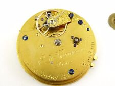 Late 1800s Diamond End Antique Fusee Chain Fine Pocket Watch Movement Needs Work