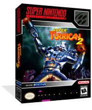 Super Turrican 2 II SNES Replacement Game Case Box + Cover Art work (No Game)