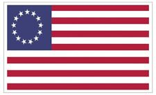 Betsy Ross American Flag Sticker / Decal Made in U.S.A.