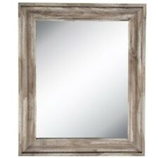 "Rustic Country Distressed Driftwood Beveled Wall Mirror Decor 35"" X 29"" XXL"
