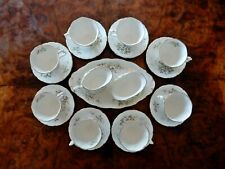 Vintage Royal Albert Haworth 15pc Coffee Set Cup Saucer Milk Jug Sugar Bowl