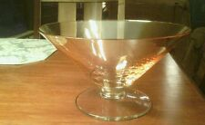 Italian crystal amber centerpiece bowl