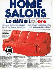 Publicité Advertising 127  1984   Home Salons canapés fauteuils défi Tricolore