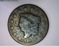 1829  Coronet Head Large Cent 1c 1 cent one cent penny ( 81s285 )