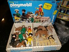 Vintage Playmobil System Cowboy Super Deluxe Play Set Schaper Western Lot 1002