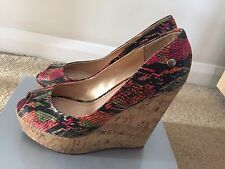 LADIES MULIT COLOURED WEDGE SHOES BY BLINK SIZE 7