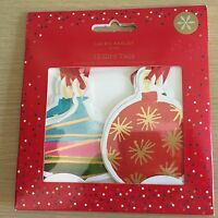 New Pack of 12 Laura Ashley Luxury Christmas Gift Tags - Bauble Shape 2 Designs