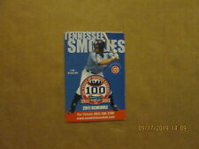 Tennessee Smokies Vintage 100 Years of Smokies Baseball Circa 2011 Logo Schedule