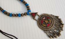 Vintage Afghan Old Boho Handmade Thread Beads Banjara Tribal Gypsy Necklace