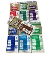 Lot Of 7 Vintage Stamps Crystal Mount Various Sizes New Sealed Includes Medium