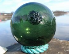 CM marked Norwegian Glass Fishing Float Ball Maritime from Norway 4""