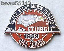 """VERY RARE"" STURGIS CHAMBER SOUTH DAKOTA 49th ANNUAL 1989 RALLY VEST PIN"