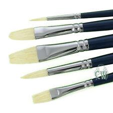 Pro Arte Artists Studio Hog 5 Brush Set CWA. Brushes For Oil & Acrylic Painting.