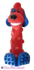 VINILE Squeaky a Forma di Cane Dog Puppy Pet Gioco Morso Chew Fetch Toy