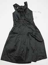 Davids Bridal 83690 BM Sz 2 Y Neck Cotton Sateen Short Dress Classic Black $135