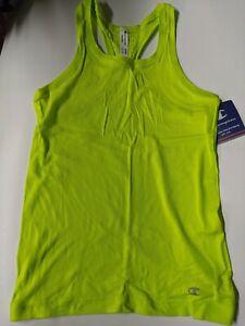 Women's Champion Seamless Racer Back Tank Top Sweet Green Workout Shirt MEDIUM
