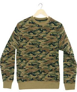 Men's Camouflage Sweatshirt All Sizes Premium Quality Free Postage Khaki Color