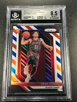 TRAE YOUNG 2018 PANINI PRIZM #78 RED WHITE BLUE REFRACTOR RC BGS 8.5 W/ 9.5 SUB